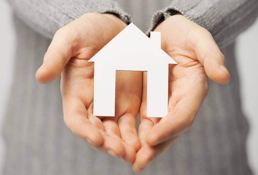 handen houden huis vast
